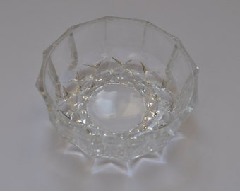 Little vintage glass salad bowl USSR 80s