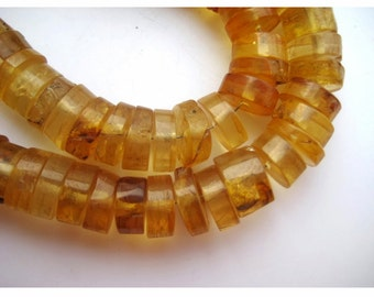 "Amber Beads, Rondelle Beads, Baltic Amber, Amber jewelry, Amber Necklace, Button Beads, 6mm To 11mm Beads, 7"" Half Strand"