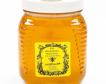 Raw Wildflower Honey - 2.5 lb Jar