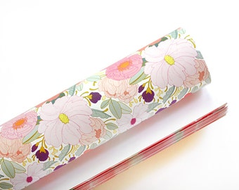 Floral Wrapping Paper - 3 Sheets