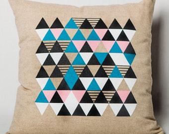 "Geometric pillow: ""Origami""."
