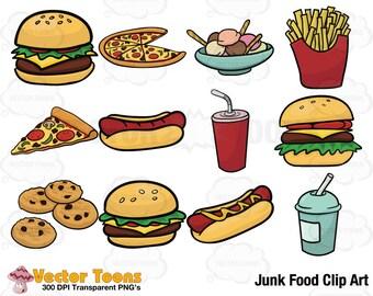 Clip Art Junk Food Clipart junk food clipart etsy clip art digital graphics