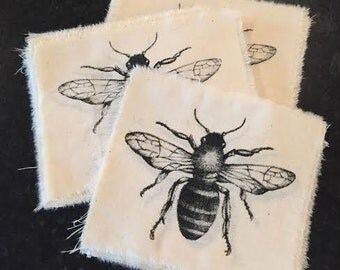 Screen Printed Bee Patch