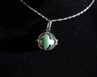 """Gentle Chime Celtic Ball Pendant with Multiple Color Options in 925 Sterling Silver With 18"""" or 22"""" Sterling Silver Chain"""