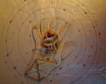 The rendezvous. Original work. Paper and textile art.