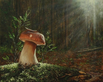 "Hidden Treasure / Прихований скарб - painting, oil on canvas, 45 x 55 cm / 17.7"" x 21.7"""