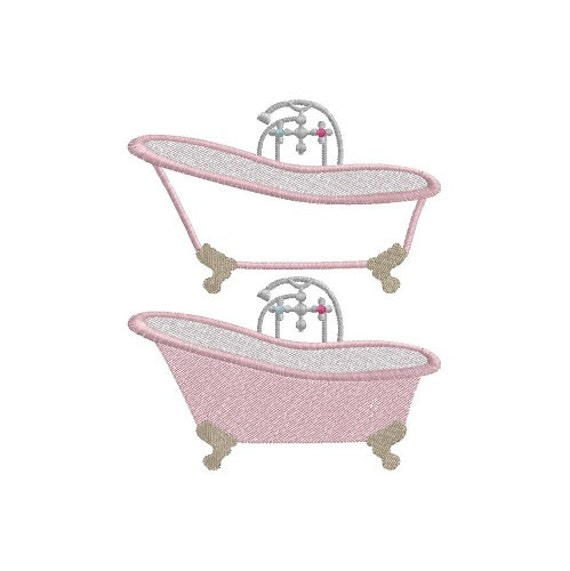Bath tub machine embroidery design from avousdebroder on for Bathroom embroidery designs