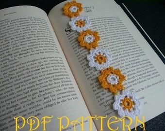 Crochet Flower Bookmark PDF Pattern