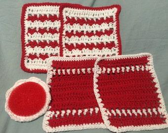 Heart Dishcloth Set