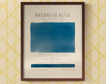 Pigments in Prussian Blue art print