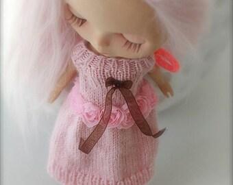 Dress dress for blythe doll custom handmade