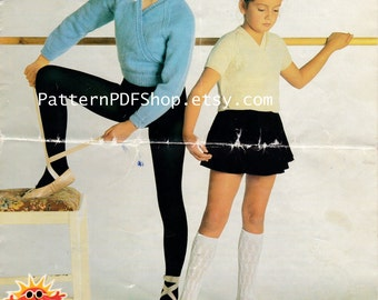 Ballet Wraps Tops CrossOver Cardigan Vintage Knitted knit Pattern PDF 041 from PatternPDFShop