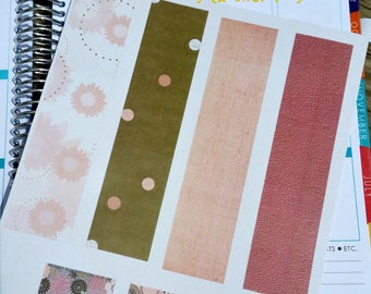 Pink and Brown Washi Stickers