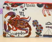 Scorpio the Scorpion Padded Zippered Coin Purse --- Select your Zodiac Sign