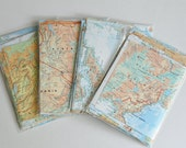 Map Paper Scrap Pack 50+ pieces Scrapbook ALL MATCHING Paper DIY Wedding Decorations
