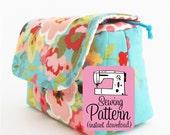 Camera Pouch PDF Sewing Pattern | Padded Drawstring Camera Case Sewing Pattern