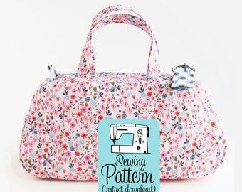 Clover Make Up Bag PDF Sewing Pattern | Small Handbag Pattern | Cosmetics Case Pattern | Mini Purse | Small Zip Top Bag