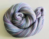 Handdyed Merino Wool Lace Yarn - Miranda Light - white, blue, purple, lavender, teal - Elegant