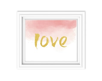 Love Watercolor Printable