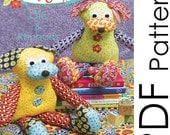 PDF Dog Softie Pattern - Otis and Rhubarb