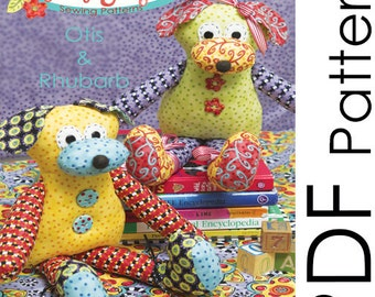 PDF Dog Softie Pattern - Otis and Rhubarb