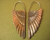 Sterling & Brass wing earrings
