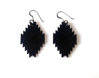 Reclaimed Record Pendleton Earrings made From Recycled Vinyl Record