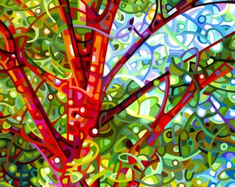 Fine Art Poster Print of an Original Abstract Acrylic Painting - Summer Medley