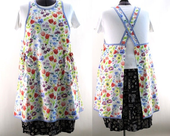 Plus Size No Ties Apron In Watercolor Print Make It Your