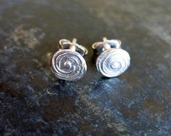 Tide Pool - Fine Silver Post Earrings