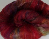 Red Headed Stranger - superwash merino silk tencel batts 4 ozs