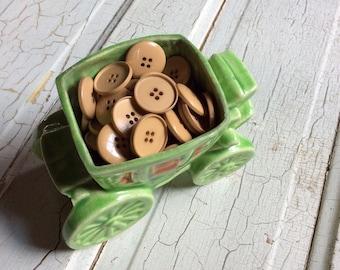 tan buttons vintage set of 20
