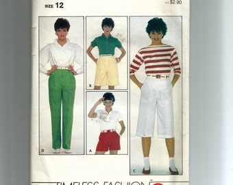Butterick  Misses' Shorts  and Pants Pattern 4217