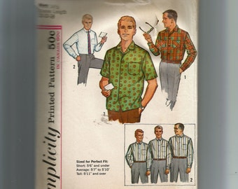 "Simplicity Men's Proportioned Shirt With Sleeve Lengths From 32""  To  34""  Pattern 5029"
