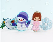 Christmas Ornament Collection Tutorial - Dove, Snowman, Angel and Snowflake Digital Patterns - PDF File Instant Download