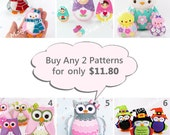 Buy 2 Digital Sewing Patterns and Save - 6 Patterns to Choose from - PDF Files