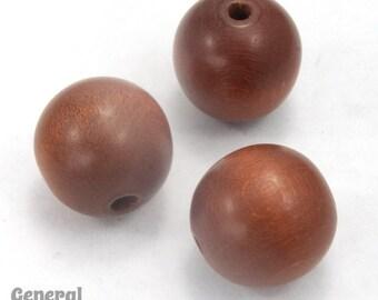 16mm Medium Brown Wood Bead (8 pcs) #DXB025