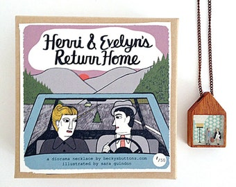 Henri & Evelyn's Return Home Diorama Necklace