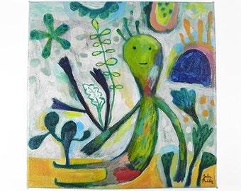 Original Art, Acrylic Painting, Canvas Painting, I Am Nature
