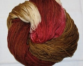 Hand dyed superwash sock yarn GINGERBREAD