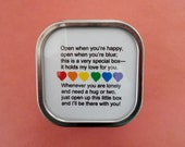 Rainbow I Love You  Box Filled with Hearts, Hugs, and a Guardian Angel