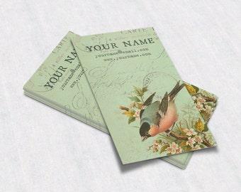Business Cards  Custom Business Cards  Personalized Business Cards  Business Card Template  Vintage Business Cards  Bird Business Card V21