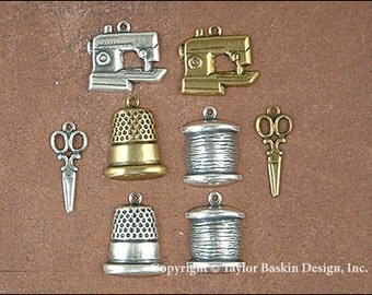 Sewing Charms Mixed Lot - 8 Pieces
