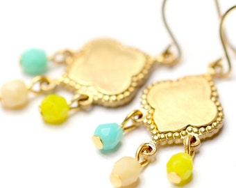 Little Beaded Chandelier Earrings- Choose one