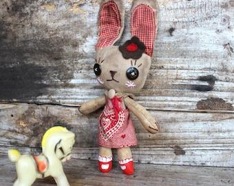 Pam, Bunny, primitive, cloth doll