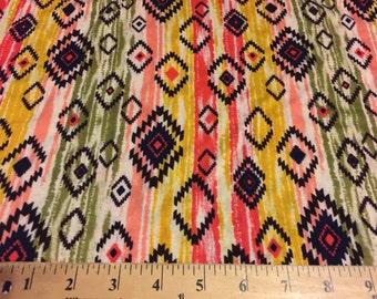 Stretchy Jersey Knit Fabric Tribal   Print