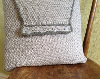 Montgomery Cushion Knitting Kit - knitted pillow kit - knitting kits - knitted pillow kit
