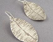 Sterling Silver Organic Ellipse Earrings
