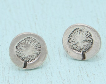 POPPIES stud EARRINGS -  sterling silver posts handmade and illustrated by Chocolate and Steel