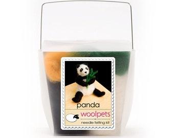 Panda Bear Needle Felting Kit